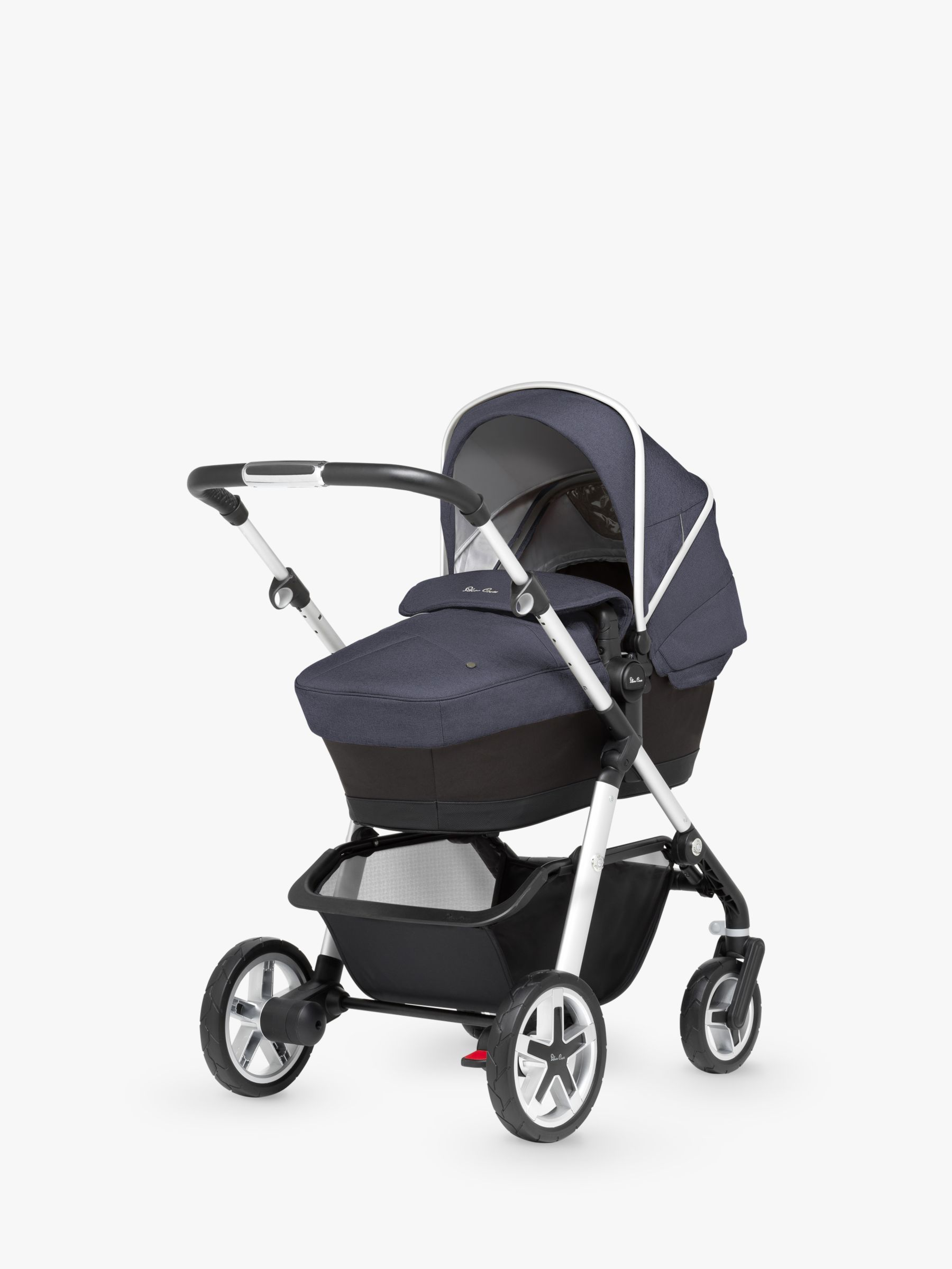 Silver Cross Pushchair Replacement Parts Silver Cross Pioneer Pushchair Chassis Carrycot And Essentials Pack Midnight Blue