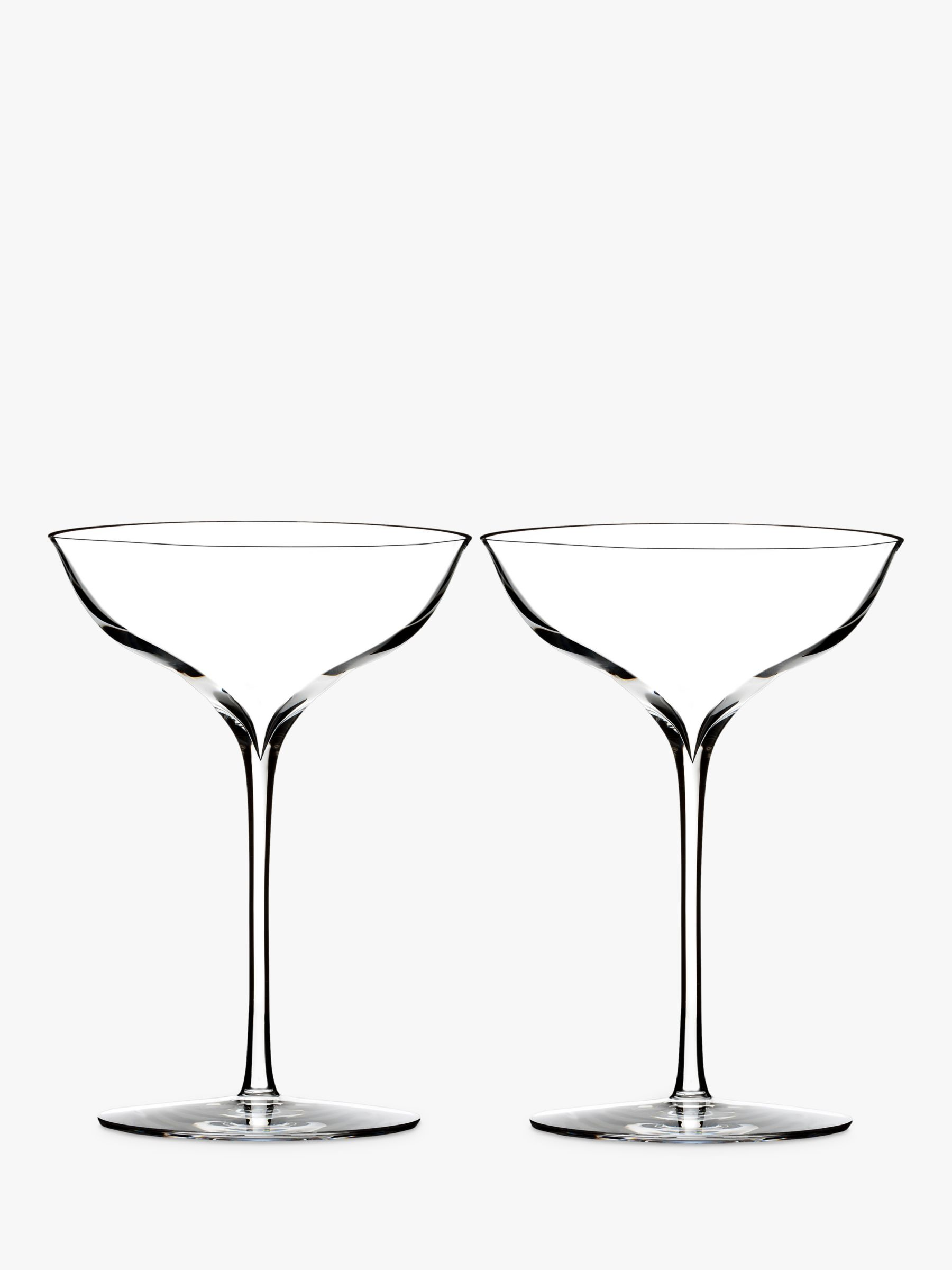 Champagne Coupe Waterford Elegance Crystal Champagne Coupe Glasses 230ml Set Of 2 Clear