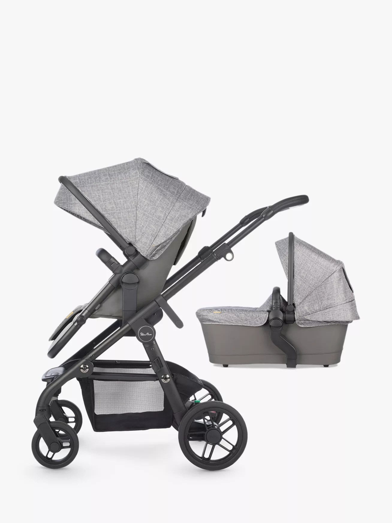 Best Pushchairs Independent Silver Cross Coast Pushchair And Carrycot Limestone