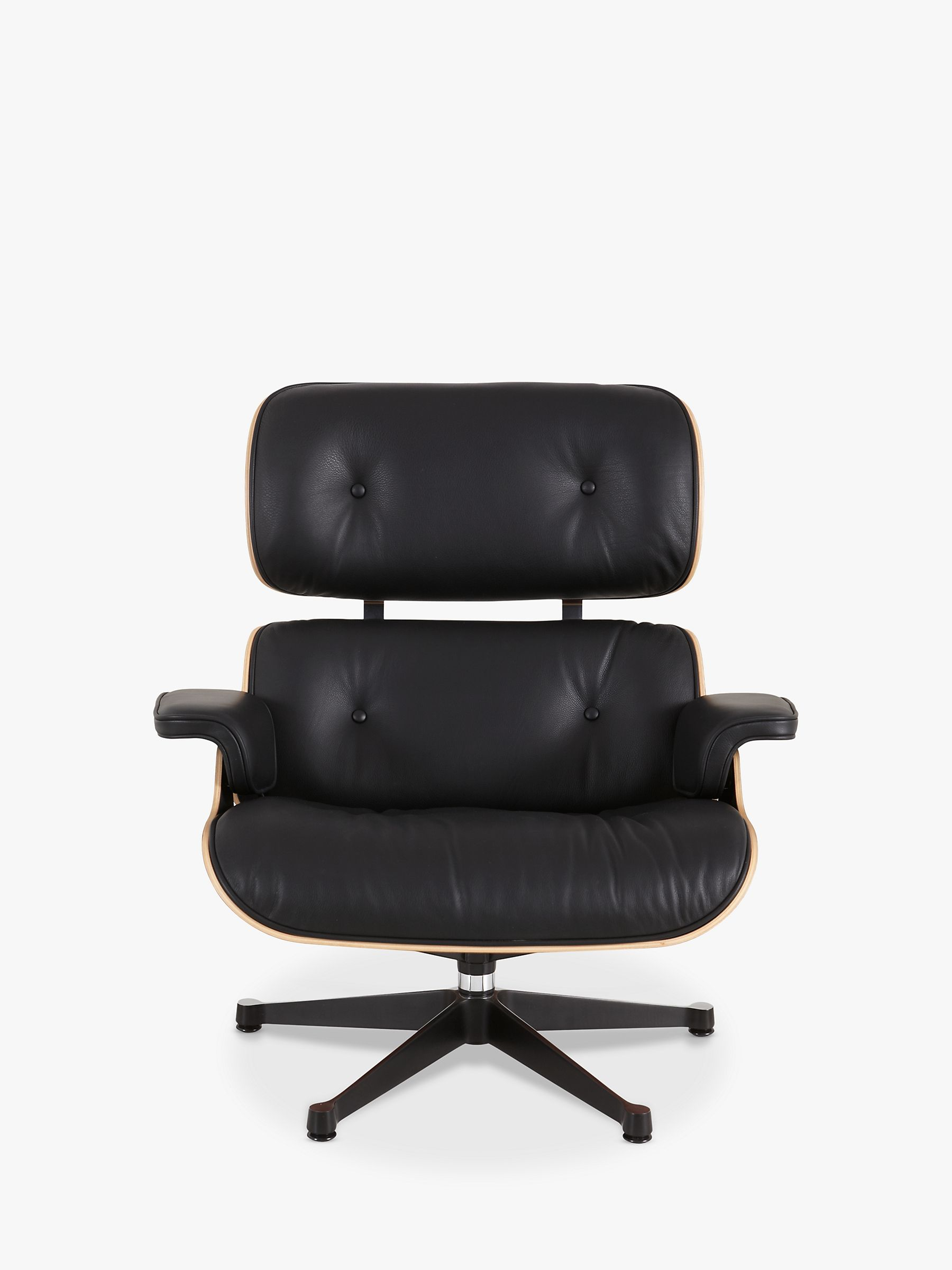 Vitra Eames Lounge Chair Black Vitra Eames Large Leather Lounge Chair And Ottoman Black Palisander
