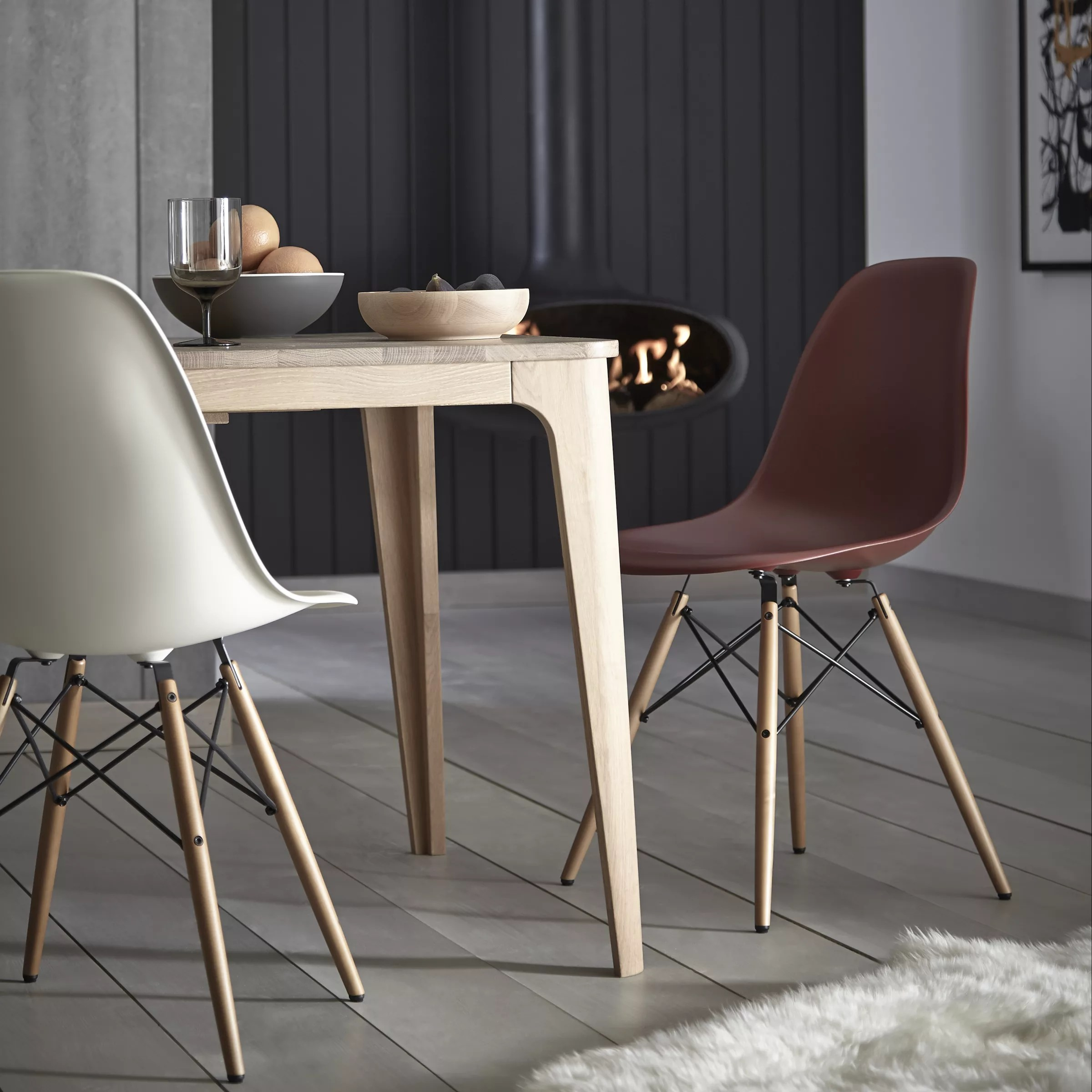 Eames Dsw Vitra Eames Dsw Side Chair Light Maple Leg At John Lewis Partners