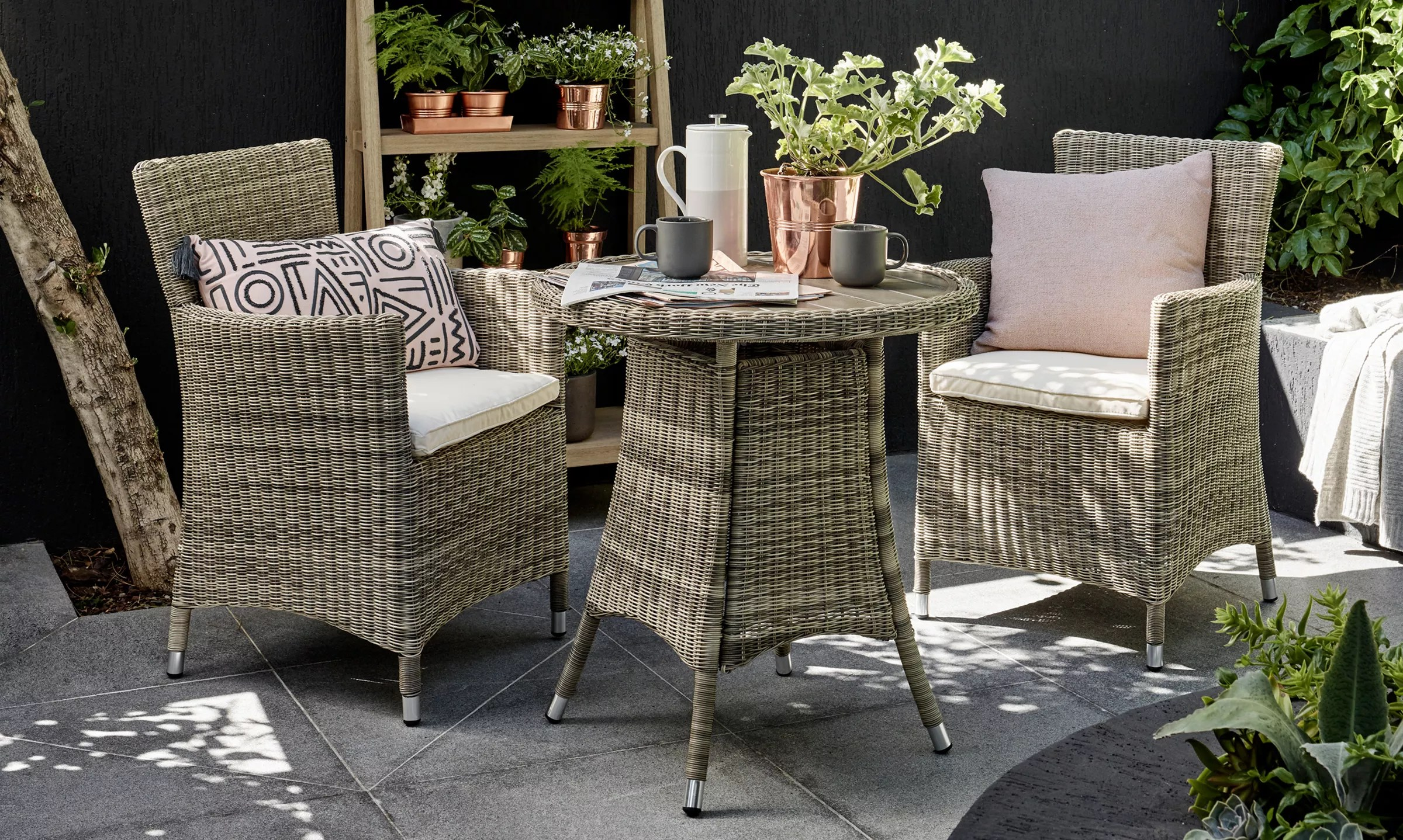 Owen 5 Piece Rattan Sofa Set With Cushions Garden Furniture Garden Tables Chairs Rattan John Lewis