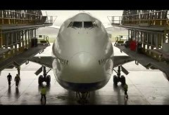 British Airways Boeing 747-400 in D-Check (2012)