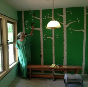 Grami painting wall