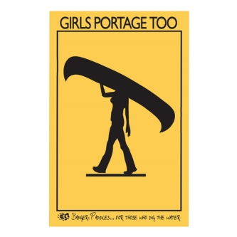 Badger Girls Can Portage Too Sticker