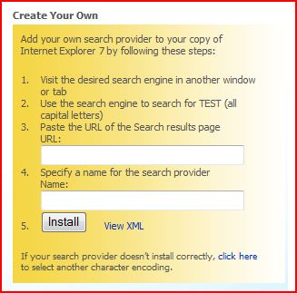 Create Your Own Search Provider screenshot