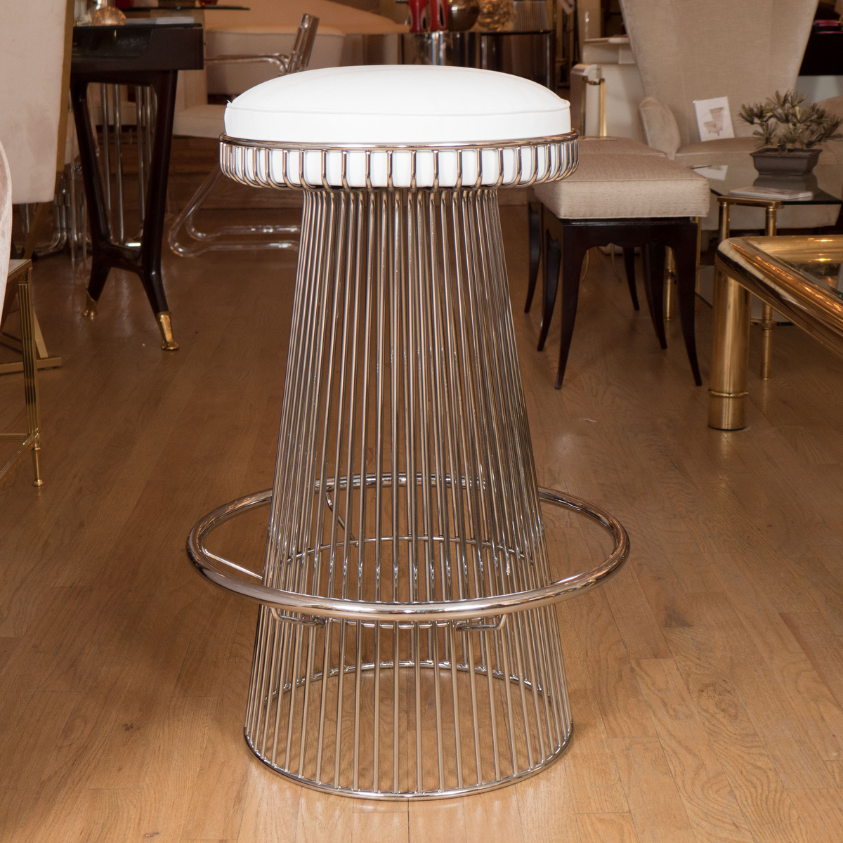 Stainless Bar Stools Stainless Steel Wire Bar Stool Stools John Salibello