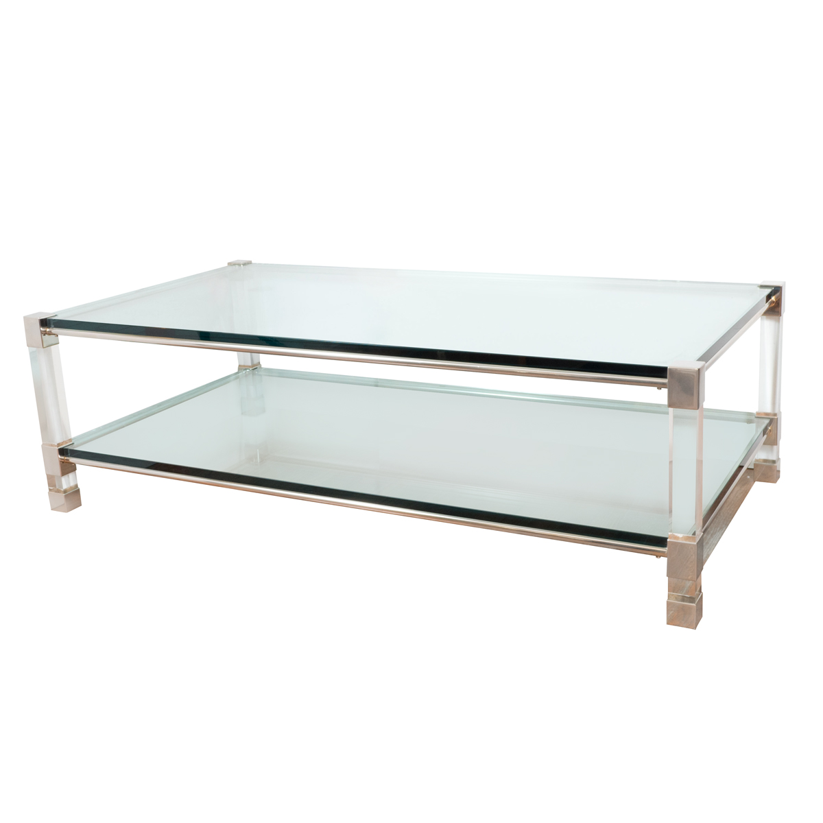 Chrome Coffee Table Two Tier Chrome And Lucite Coffee Table Coffee Tables