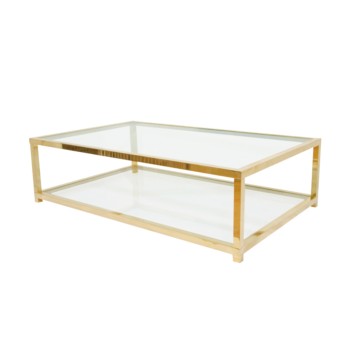 Glass Coffee Table With Gold Legs Two Tiered Brass And Glass Coffee Table Coffee Tables