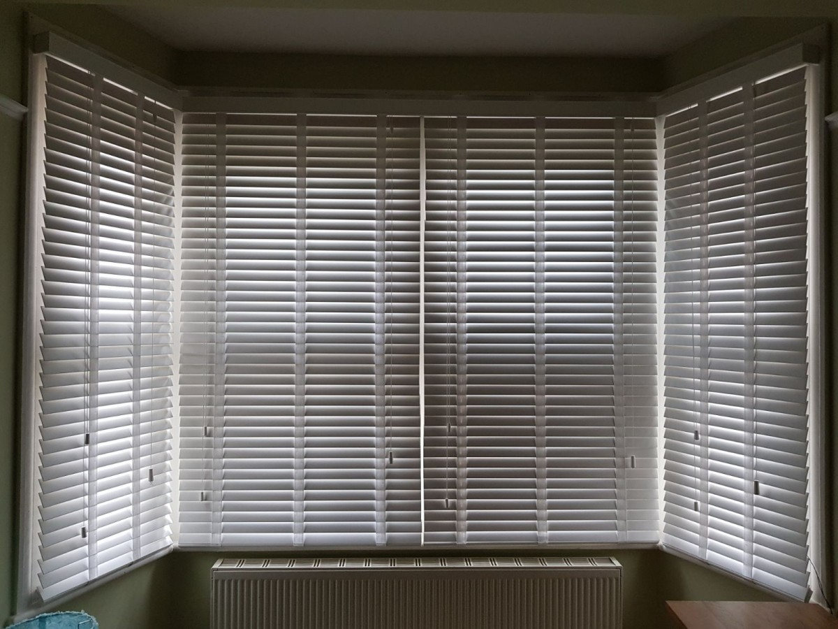White Timber Blinds Quality Wood Venetian Slatted Blinds Beautifully Made For Essex