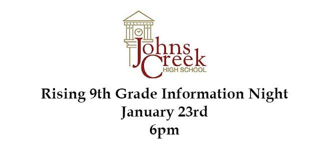 Rising 9th Grade Information Night