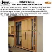 Johnson Hardware 2610SC Soft-Close Wall Mount Sliding Door ...