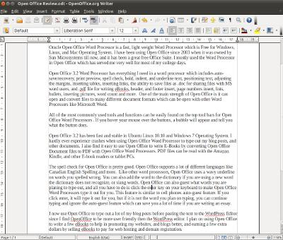 Oracle Open Office Word Processor 32, Best Free Word Processor Ever