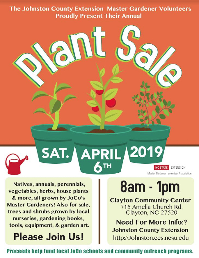 Annual Plant Sale by Master Gardener Volunteers of Johnston County