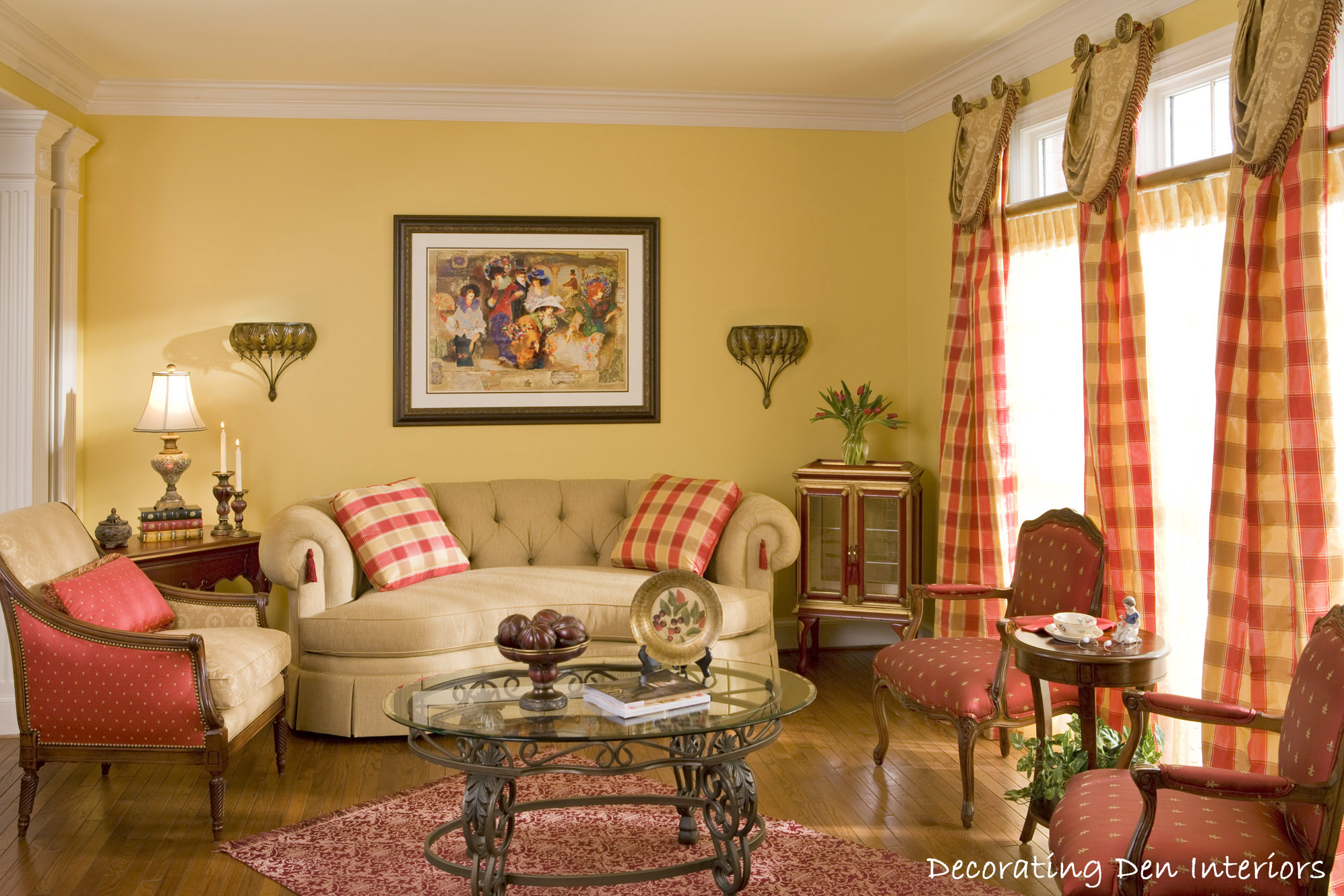 Traditional Living Rooms Traditional Living Room Plaid Couch Best Site Wiring Harness