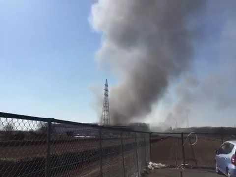 アスクル火事!巨大倉庫が3時間燃えっぱなし、爆発音 #トレンド #followme