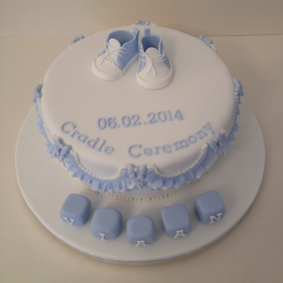 Baby Cradle Fan Baby Sneakers Boys 39; Christening Cake