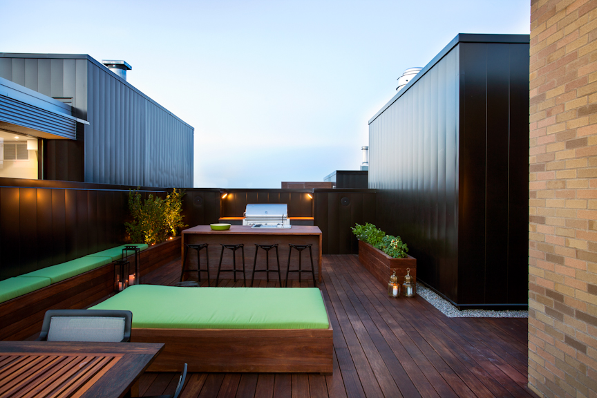 Spa Exterieur Nord Un Penthouse Au Chic Dramatique Par L'architecte