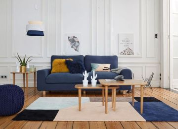 Idees Salon Bleu | Bleu Couleur Canard Deco Shake Noir Utiliser ...