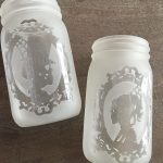Halloween Etched Silhouette Jars