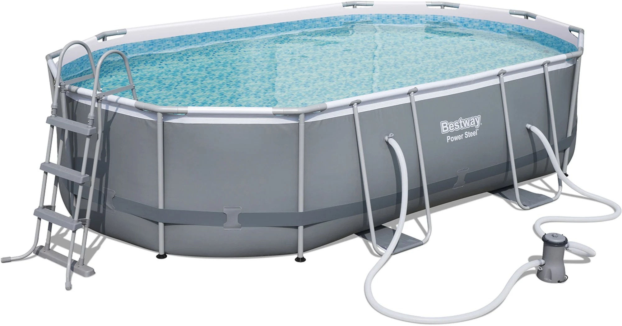 Bestway Pool Abdeckung Oval Kjøp Bestway Power Steel Oval Pool Set Jollyroom