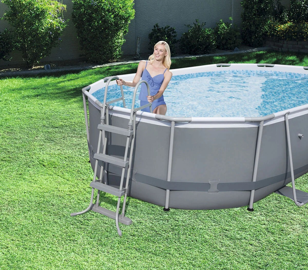 Bestway Pool Abdeckung Oval Köp Bestway Power Steel Oval Pool Set Jollyroom