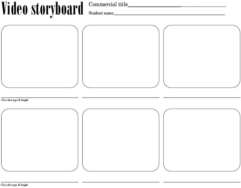 Unit 5 Video Production - Professional Learning NL - video storyboard template