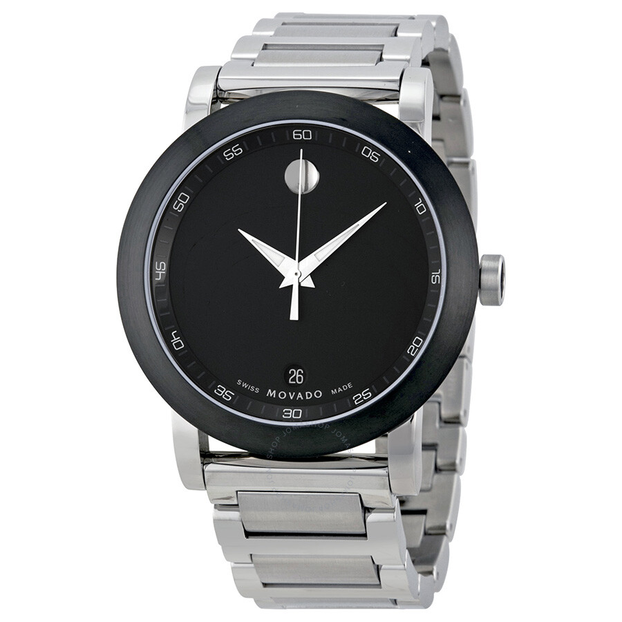 Movado Museum Movado Museum Black Dial Stainless Steel Men's Watch