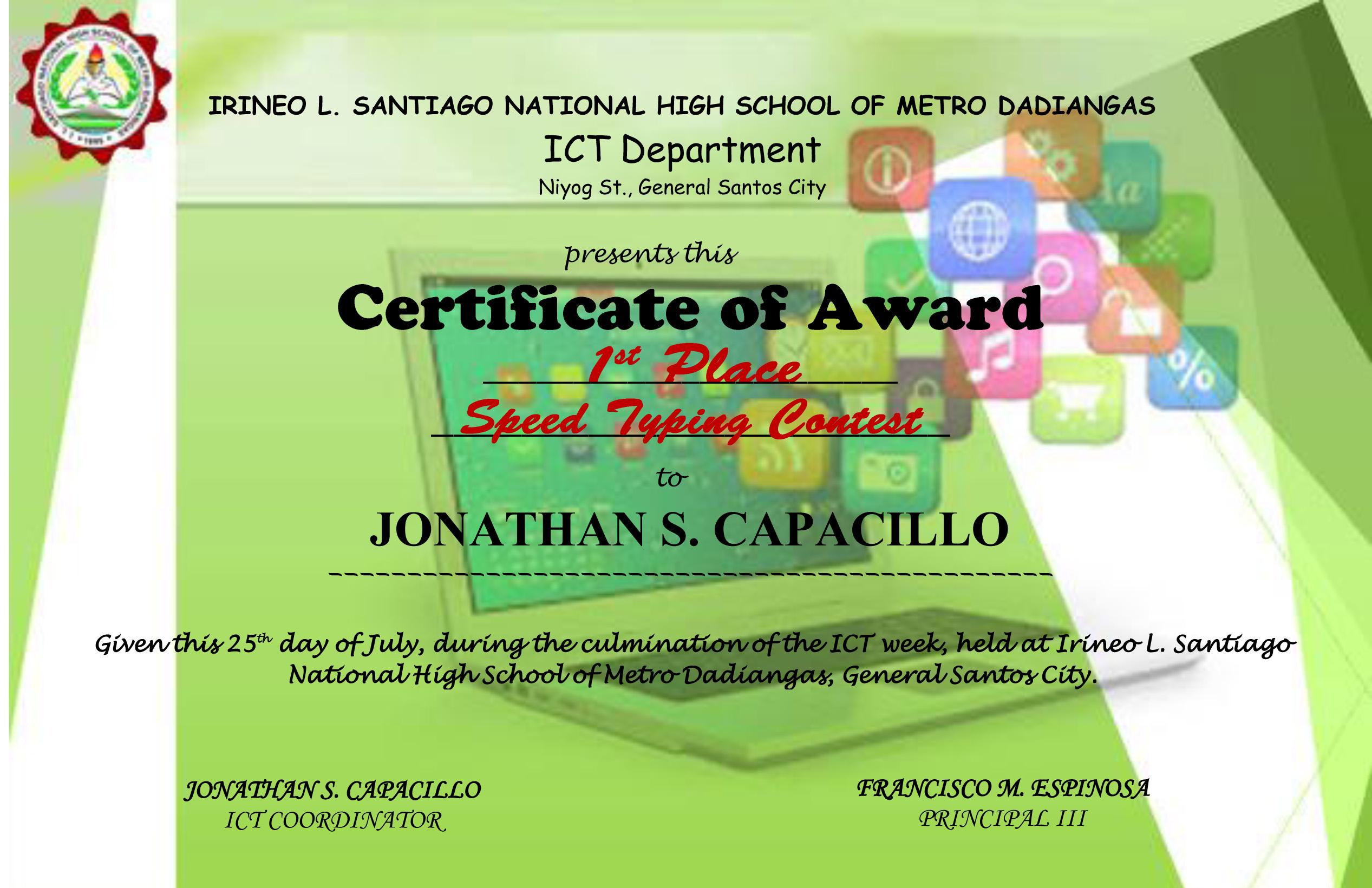 Making An Award Certificate  Wooden Certificates