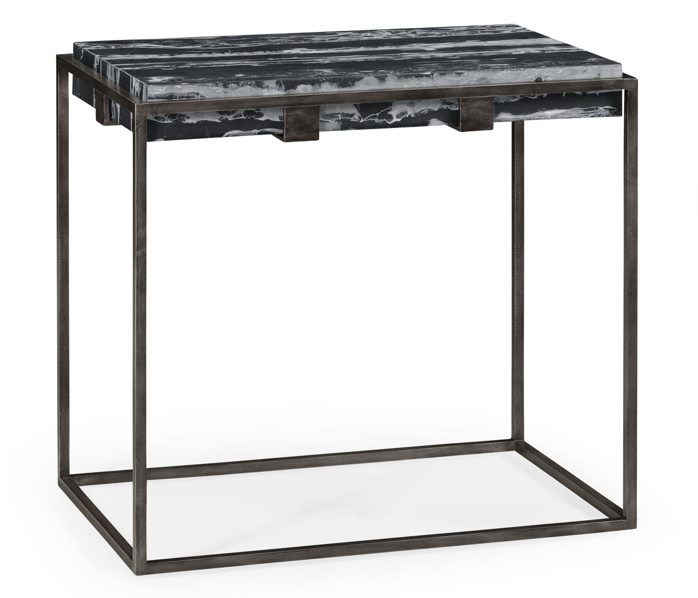 Settee End Table Sofa End Table With Black Marble Top