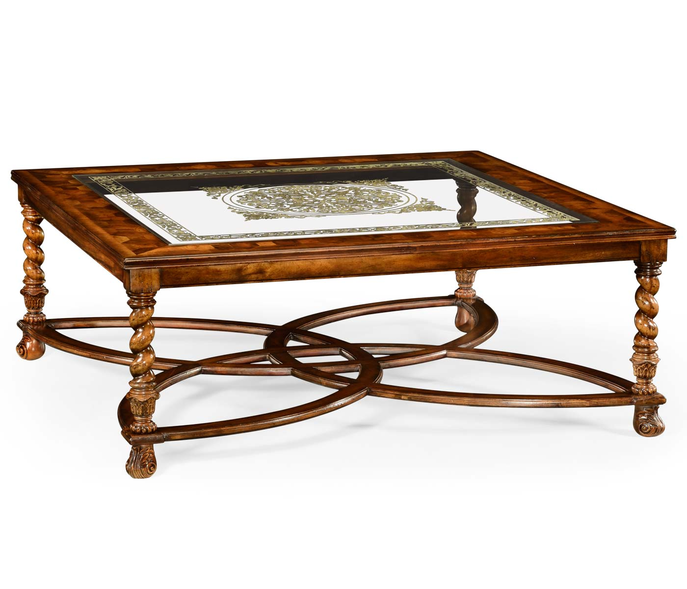 50 Square Coffee Table Square Oyster And Églomisé Coffee Table 52 Quot