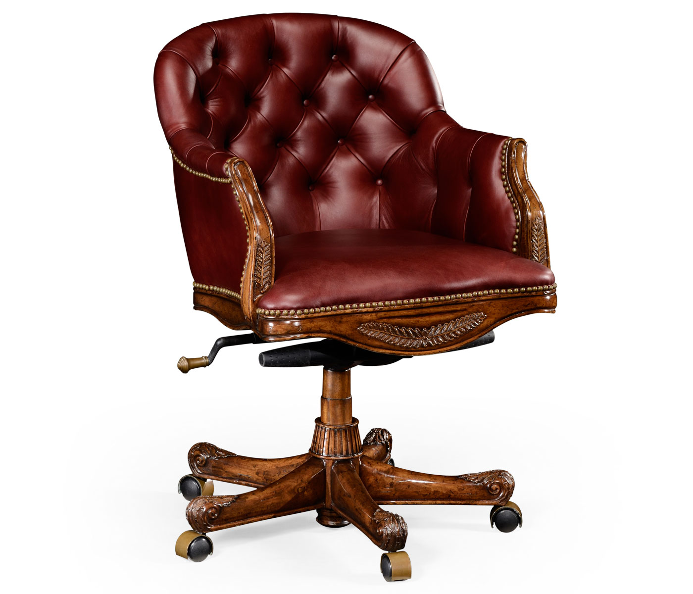 Office Chair Styles Chesterfield Style Mahogany Office Chair Upholstered In