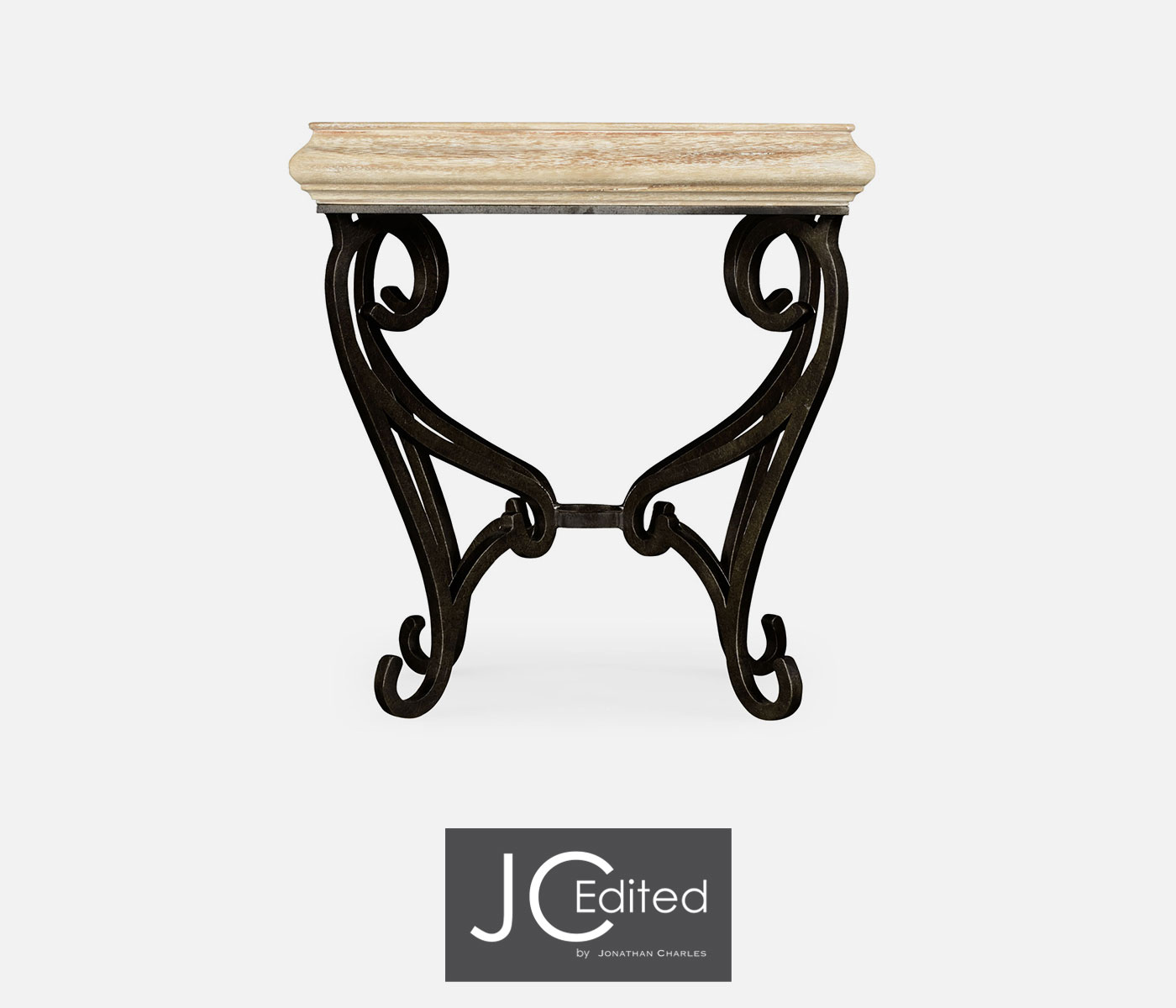 Wrought Iron And Wood End Tables Limed Wood Square Side Table With Wrought Iron Base