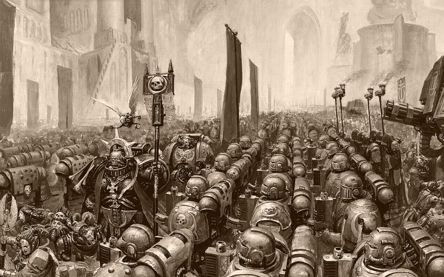 The Ultramarines chapter of the Adeptus Astartes on review. Created by (I believe) Alex Boyd (if this credit is incorrect, please let me know.