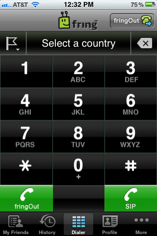 fring free iphone sip phone client