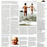 Naked skinny dippers celebrate New Year 2009 - The Times - January 2009