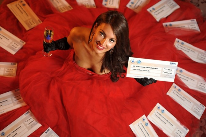 Miss York Anastasia Smith promotes EuroMillions by Jonathan Pow.