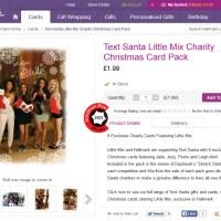 Little Mix Text Santa Charity Christmas Cards hit Hallmark shops today