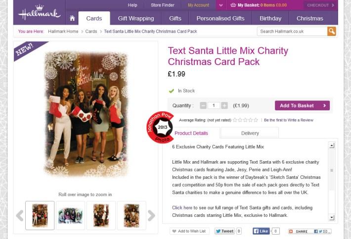 Hallmark: Text Santa Little Mix Charity Christmas Card Pack