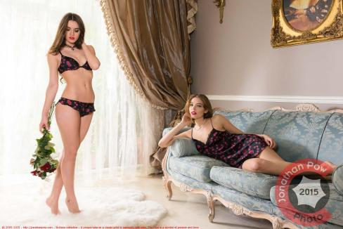 Siciliana collection - A unique take on a classic print in sensually soft satin. The rose is a symbol of passion and love