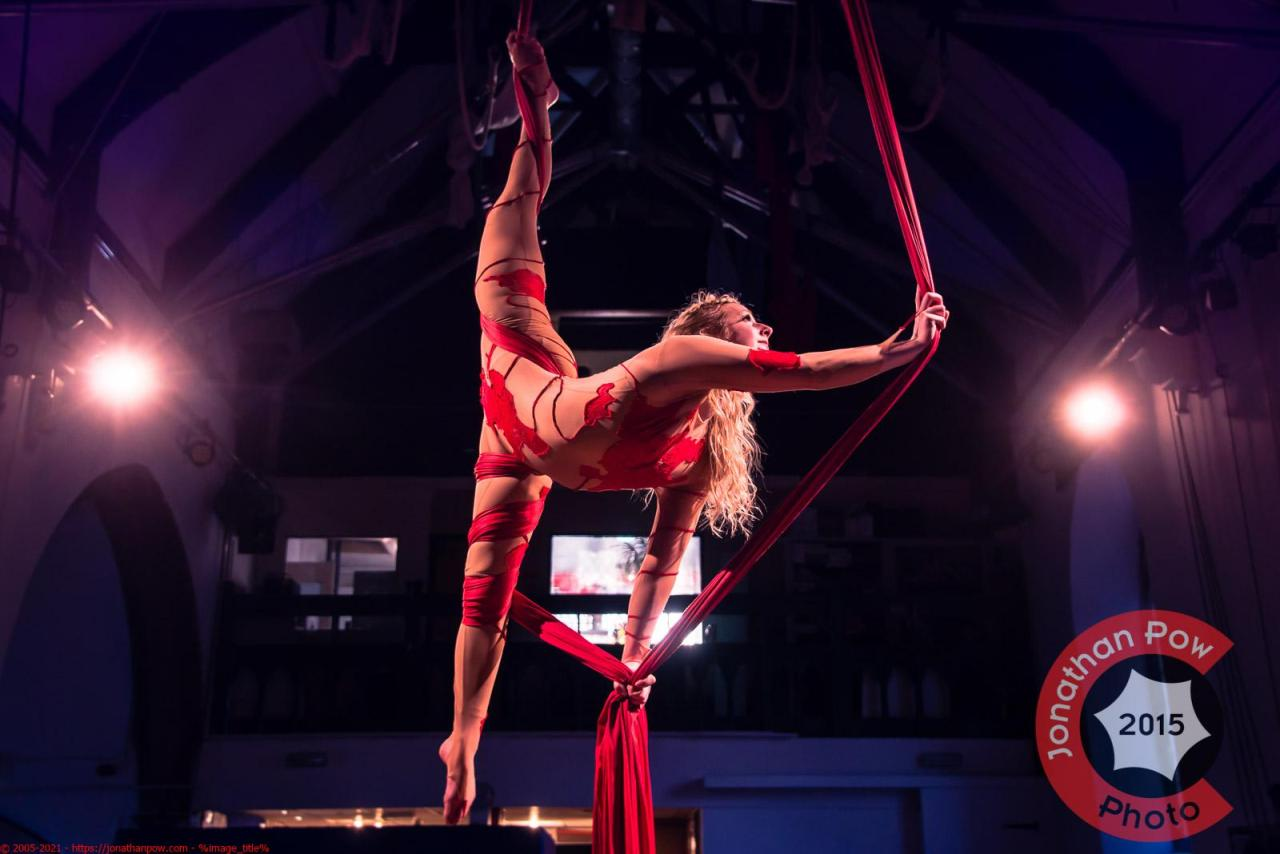 Pole Artist Bendy Kate at Green Top Circus in Sheffield
