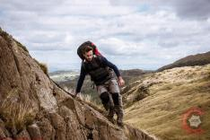 Commercial Photography Sports - A model hiking in the Lake District