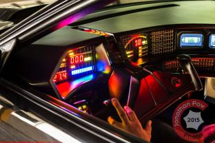 The interior and lights of the car