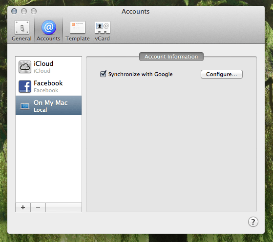 jonathans blog How to sync your mac osx addressbook / contacts to gmail contacts.
