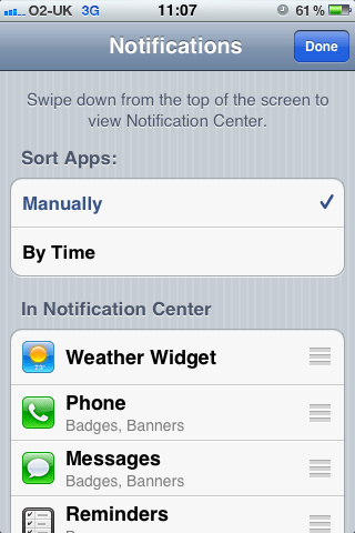 jonathans blog Change order of apps in iphone or ipad notification center