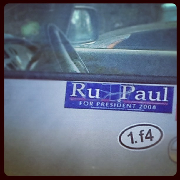 Ru Paul Bumper Sticker
