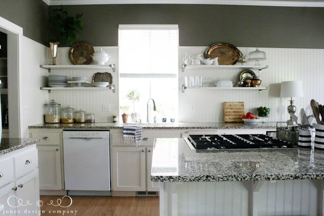 open shelves in the kitchen | Jones Design Company
