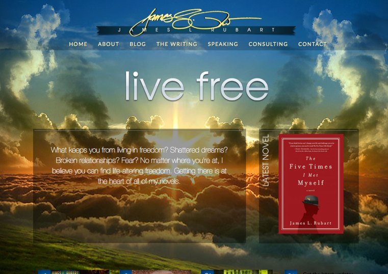 Custom Web Design for author James L. Rubart by Jones House Creative