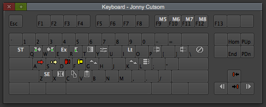 Keyboard layout shift