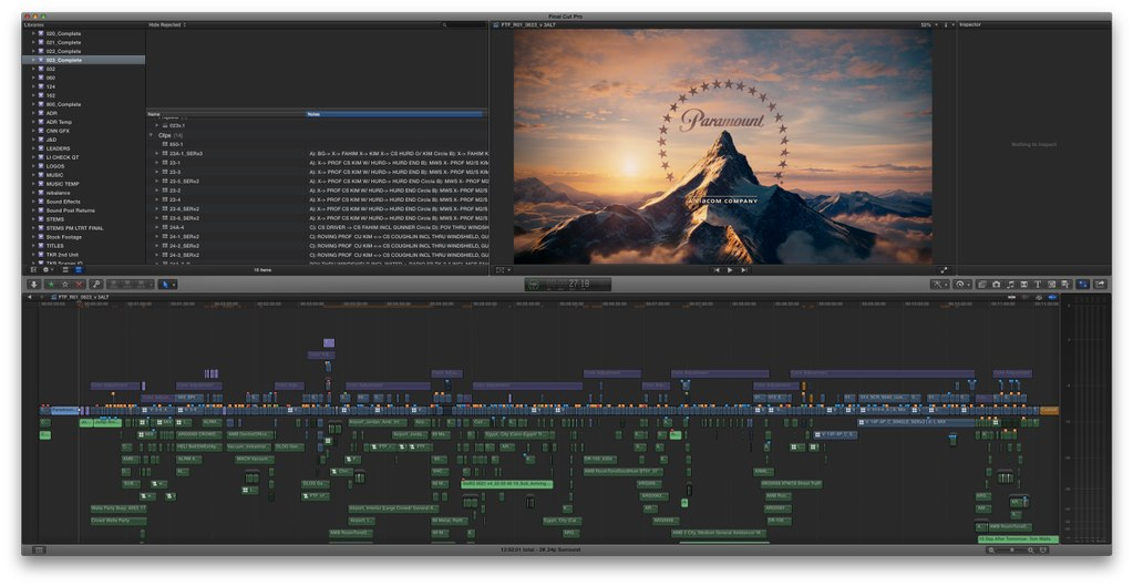 editing features films in FCPX